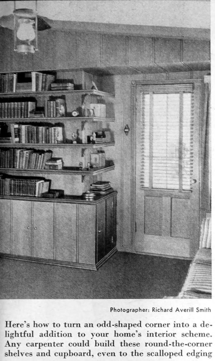 Home library - Books and shelving from 1941 (1)