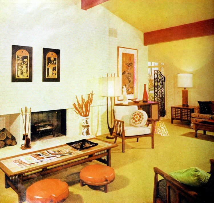 Home living room - Vintage sixties Scholz Mark 60 house