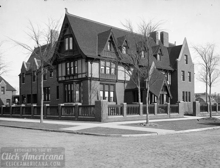 Home of A. Buhl, Iroquois Avenue from northwest, Detroit, Mich. c1910