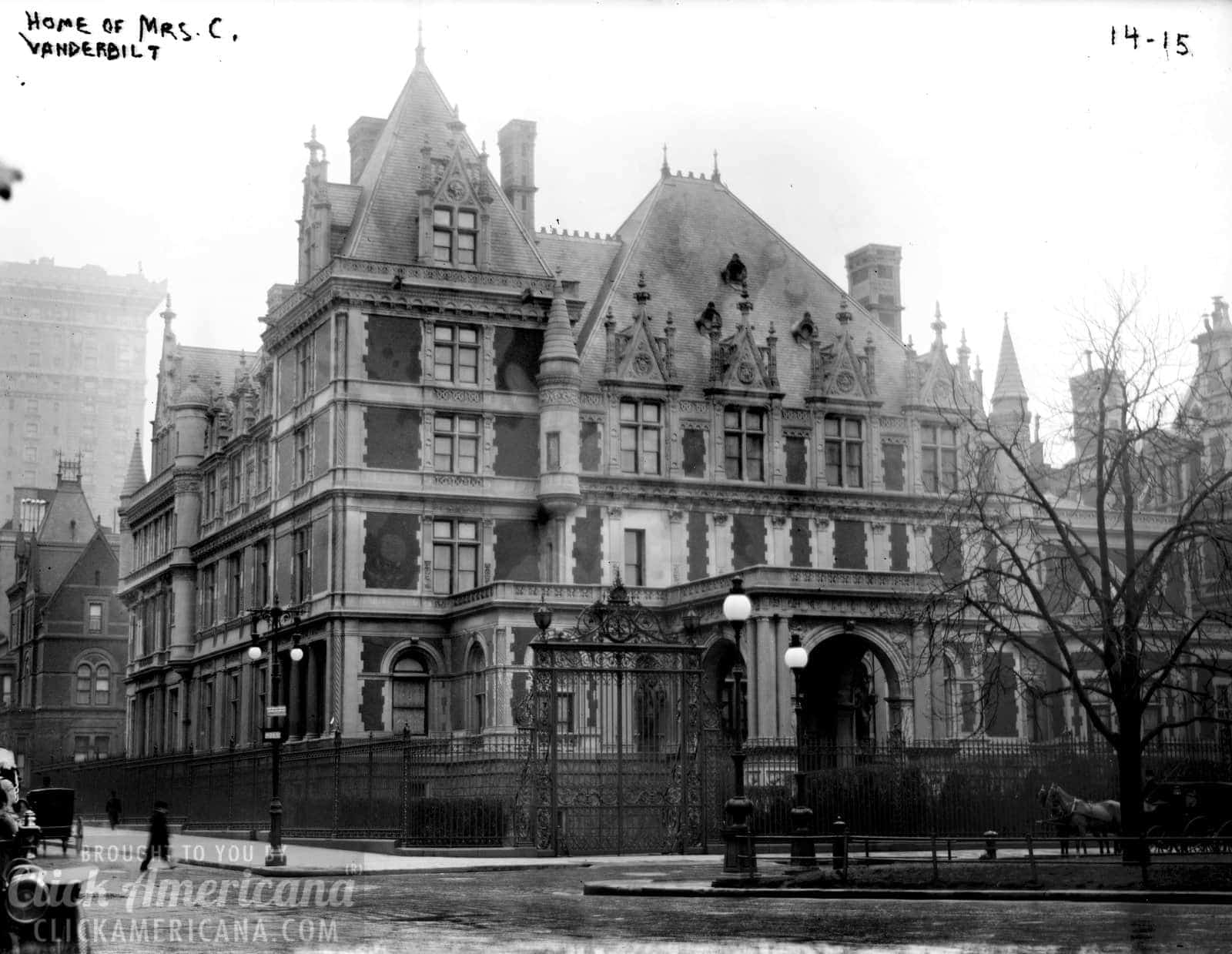 Home of Mrs Cornelius Vanderbilt - Fifth Avenue New York City - 1894