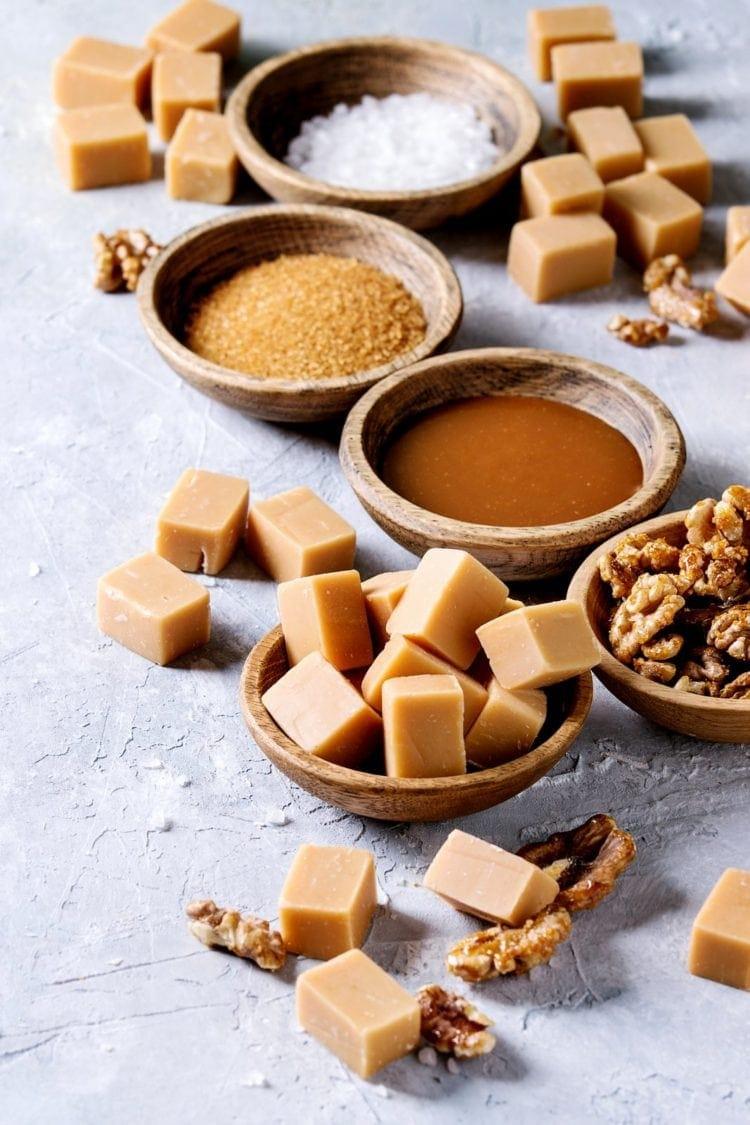 Salted caramel fudge homemade candy recipe