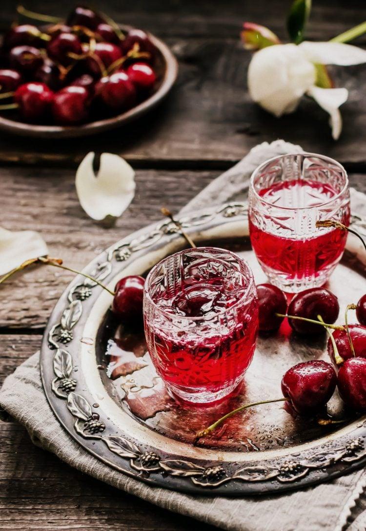 Homemade cherry cordial - liqueur