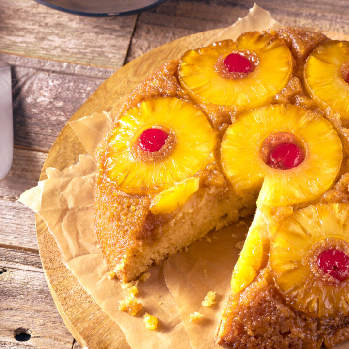 Homemade pineapple upside-down cake