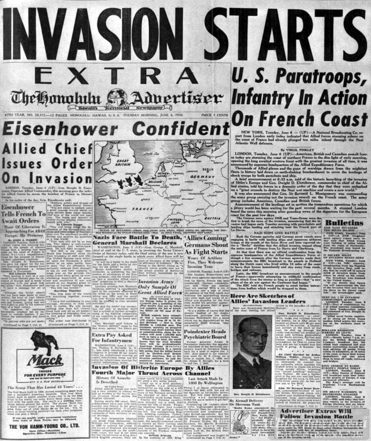 Invasion Starts: US Paratroops, Infantry in Action on French Coast