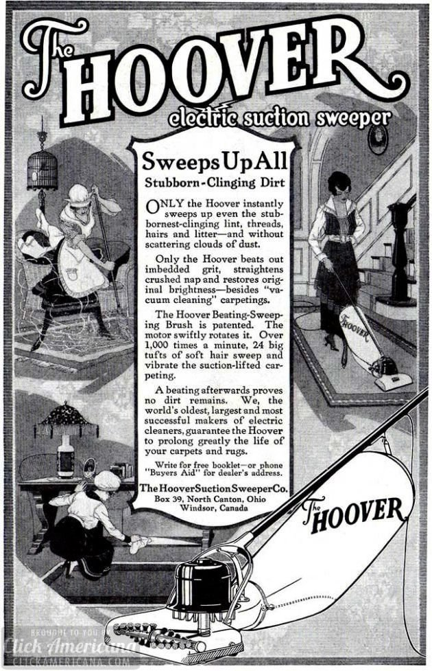Hoover Suction Sweeper Co 1918