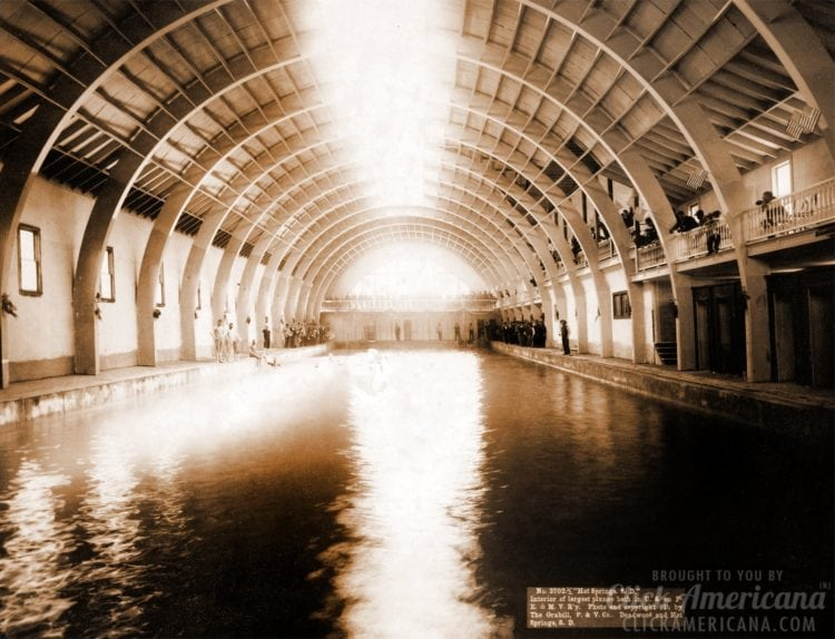 Hot Springs South Dakota - The largest plunge bath house in US - 1891