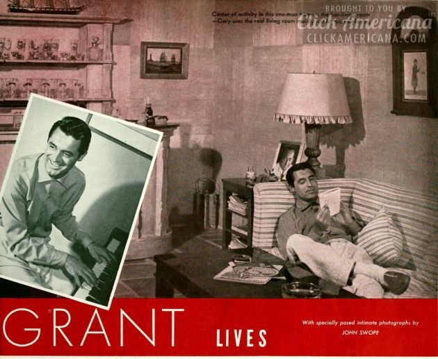 How Cary Grant lives (1941) Actor home tour