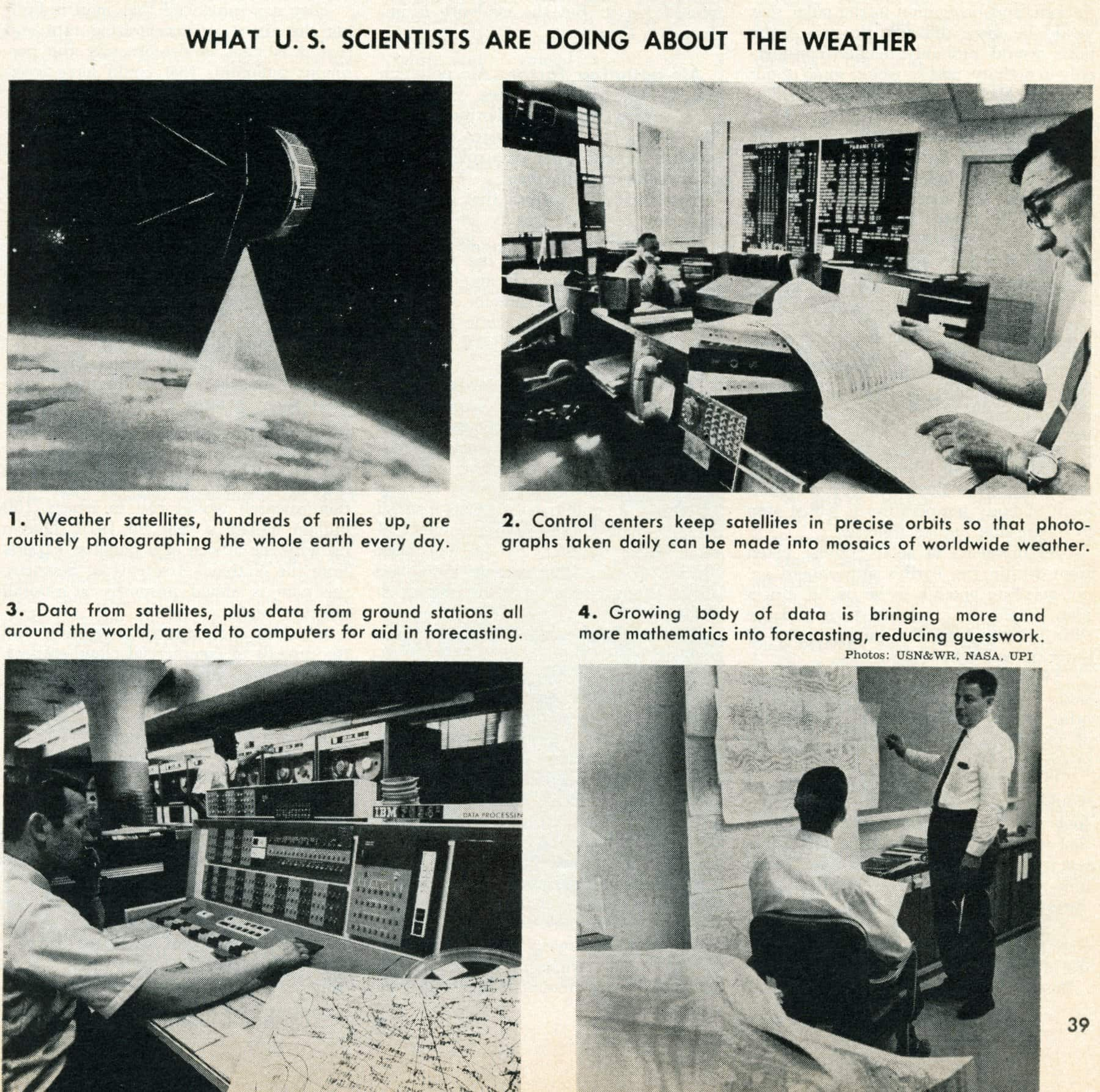 How US scientists are using computers to help with the weather (1967)