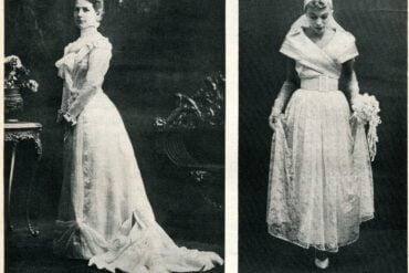 How a bride in 1950 made a new wedding dress from a heirloom bridal gown from 1900 - Before and after