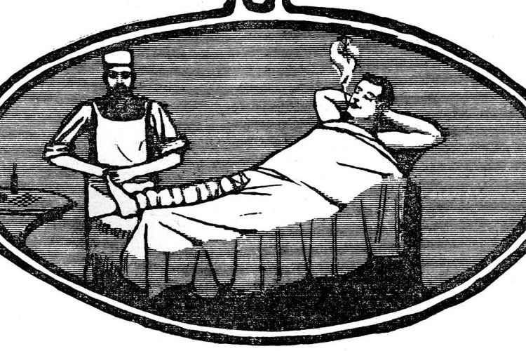 How easy and relaxing spinal anesthesia would make the patient in 1902