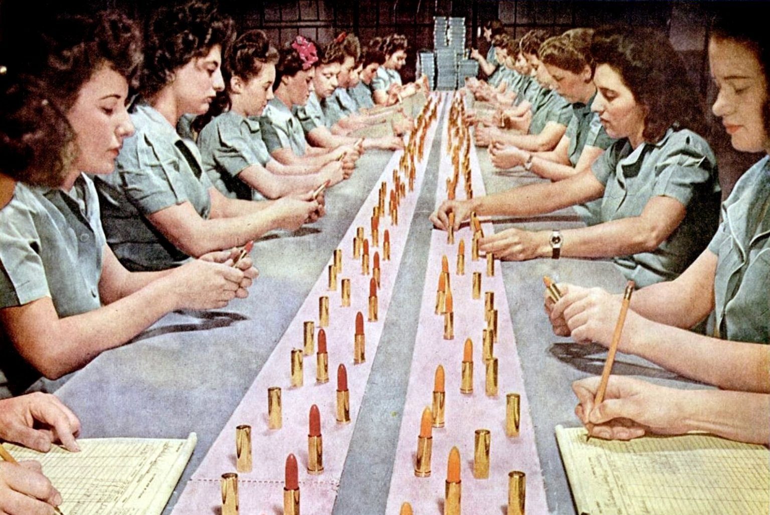 How is lipstick made - 1940s factories