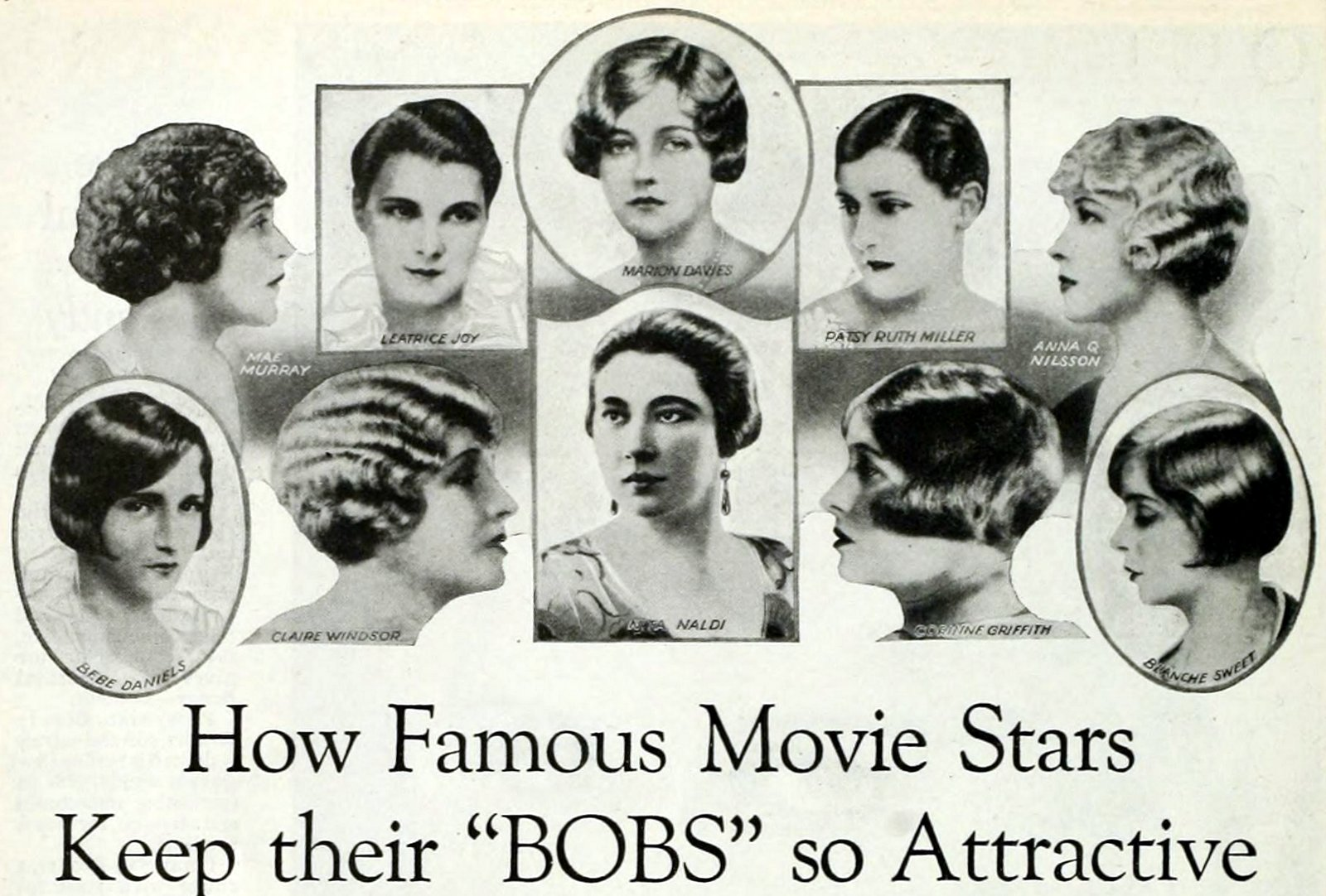 How movie stars keep their bobs so attractive - Bobbed 1920s haircuts