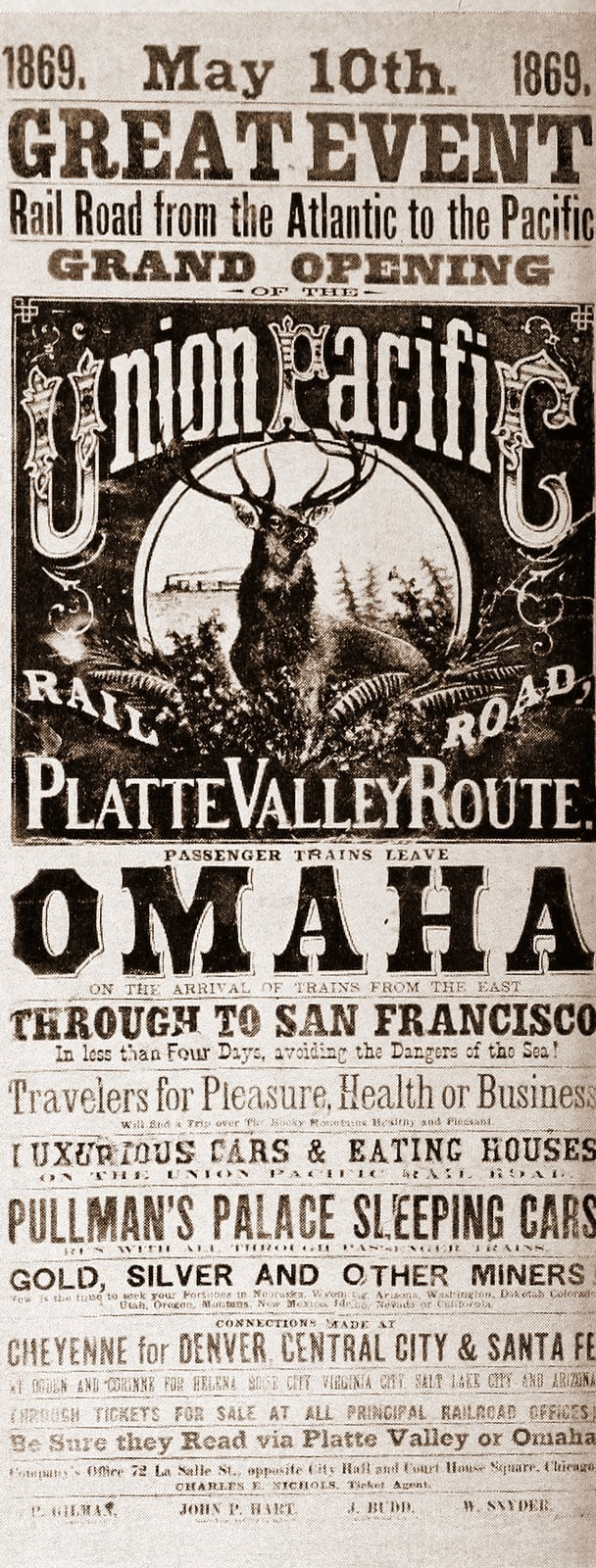 Handbill - Great event: Rail road from the Atlantic to the Pacific - May 10, 1869