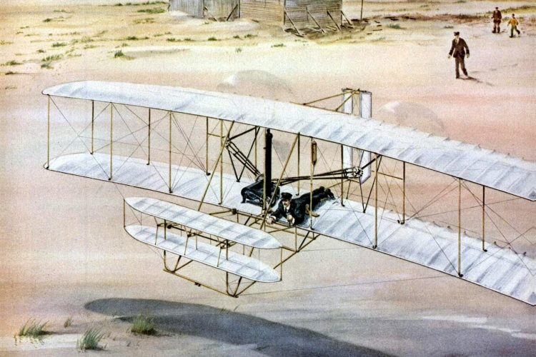 How the Wright Brothers took the first powered flight (1)