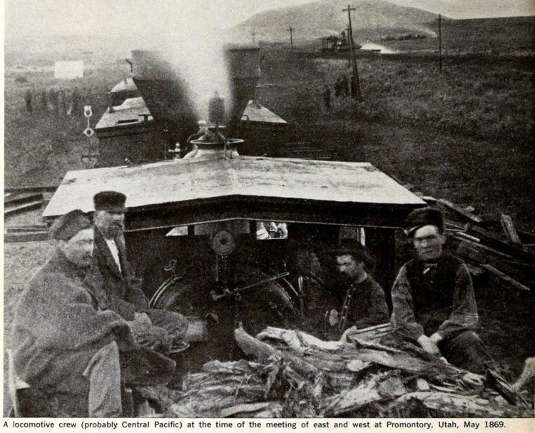 Locomotive crew in Utah, 1869