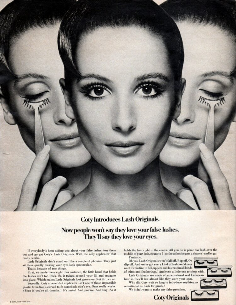 How to apply vintage false eyelashes from 1970