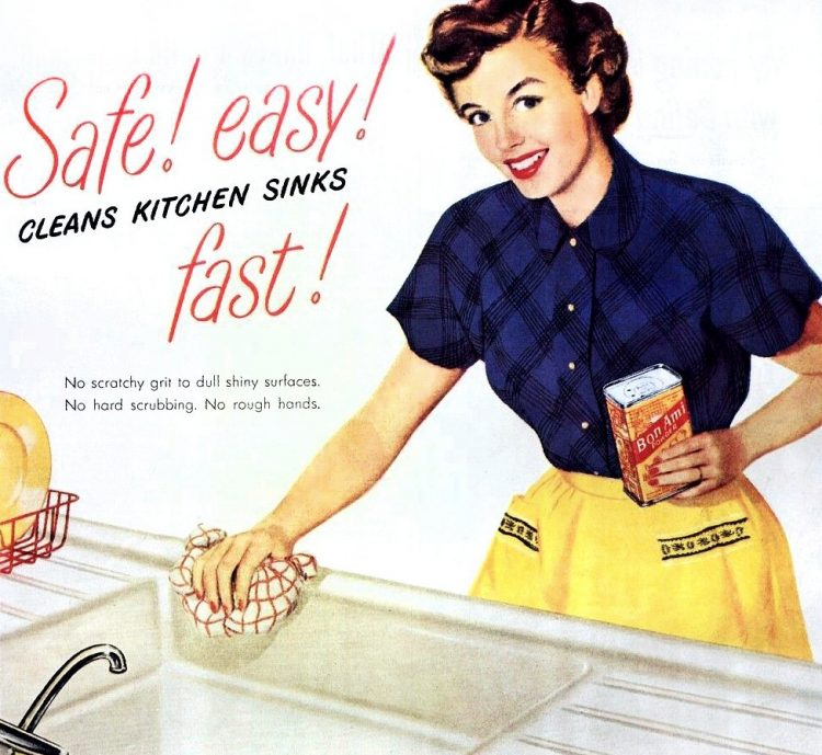 How to be a perfect 50s housewife Cleaning your sink