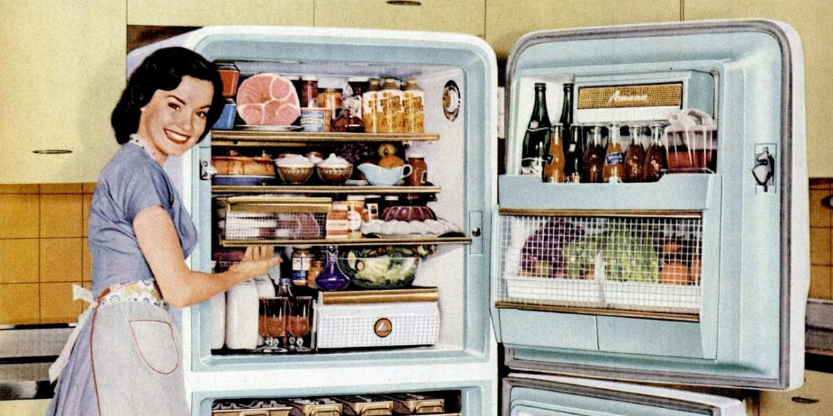How to be a perfect '50s housewife Love your refrigerator!