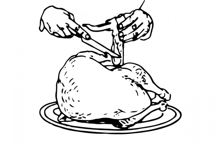 How to carve turkey - Side carving method 1. Carving position