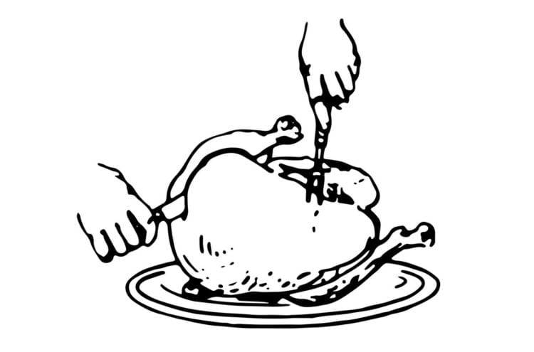 How to carve turkey - Side carving method 5. Slicing white meat