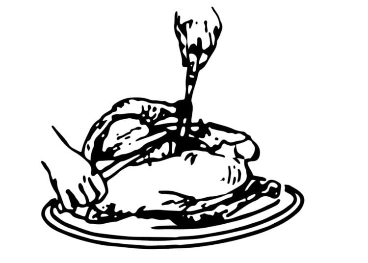 How to carve turkey - Side carving method 6. Breast slices