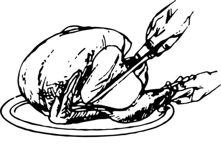 How to carve turkey - Traditional method - 1. Remove drumstick and thigh