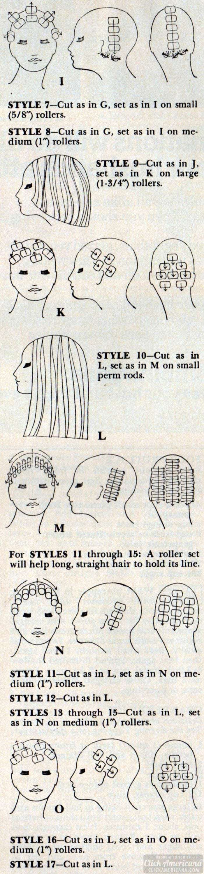 Step-by-step directions: How to make these '77 hairstyles