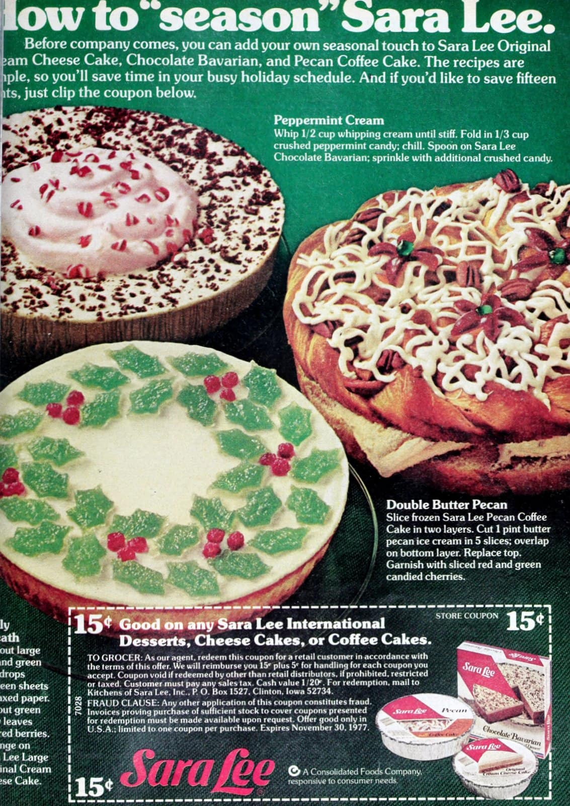 How to customize and decorate store-bought round cakes and cheesecakes (1976)