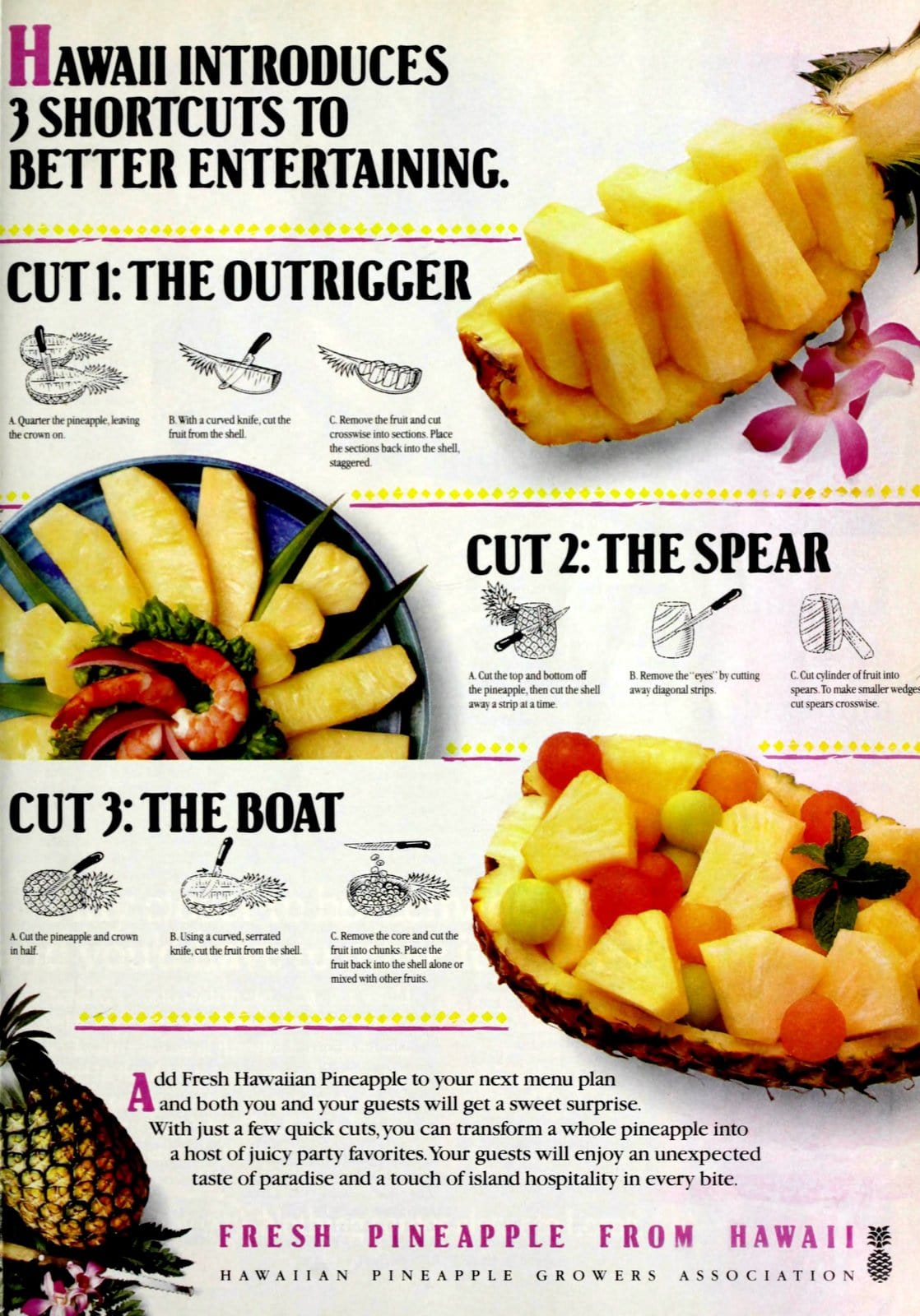 How to cut and serve pineapple (1993)