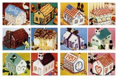 How to decorate a party house-shaped cake
