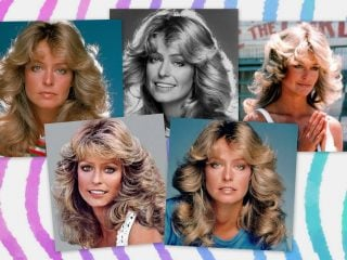 How to get the famous '70s Farrah Fawcett long hairstyle