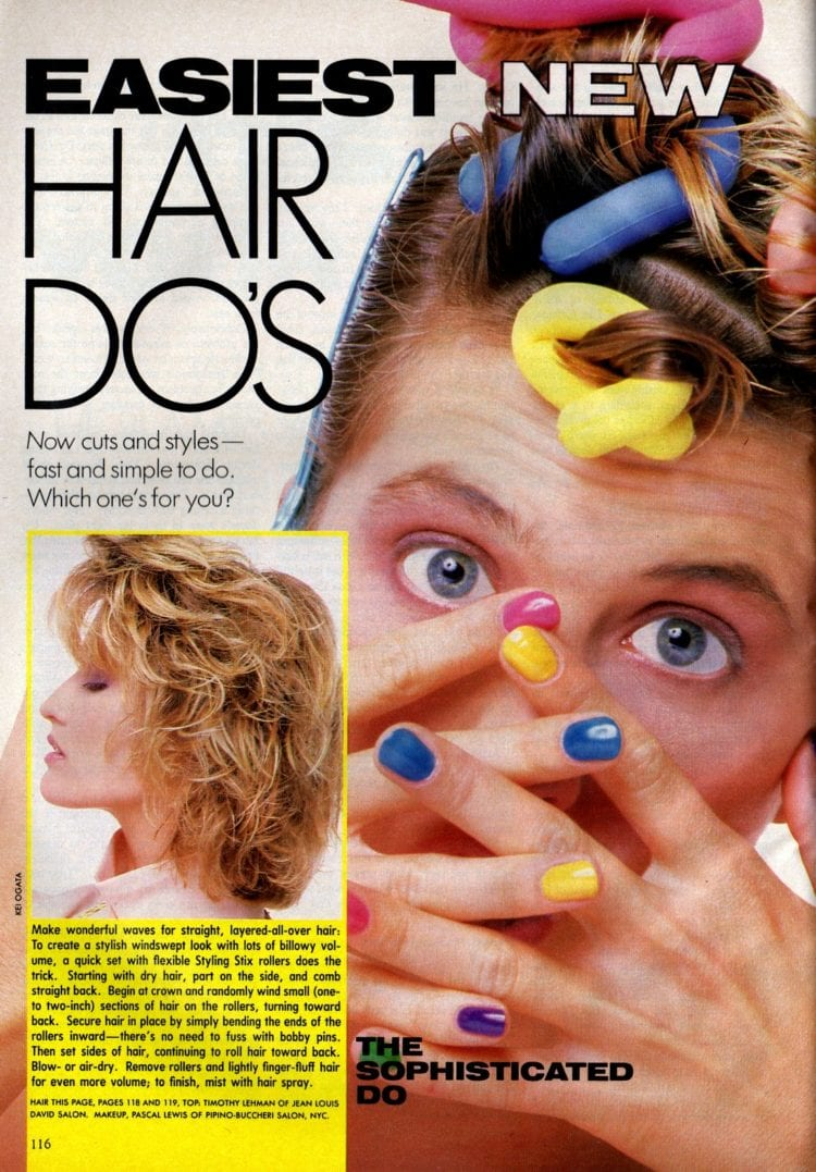 How to get these retro 80s hairstyles - Wonderful waves for straight, layered-all-over hair