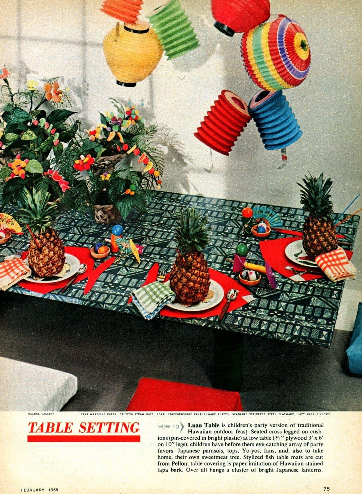How to have a retro Hawaiian luau party (1)