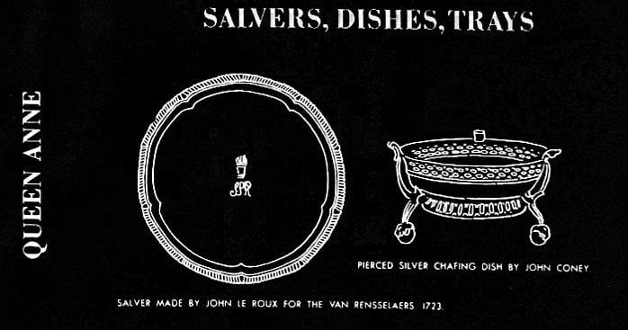 Queen Anne era salvers, dishes, trays