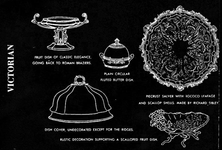Victorian era salvers, dishes, trays