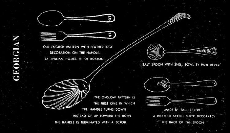 Georgian era knives, forks, spoons