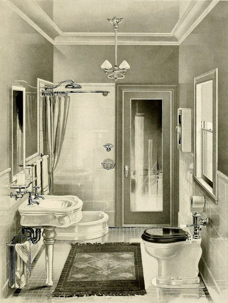 How to keep your bathroom glistening, clean and white (1905)