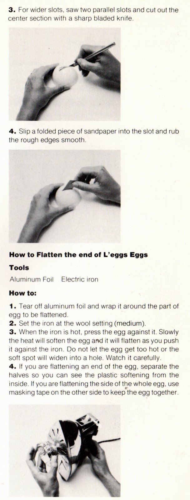 How to make L'eggs eggs into vintage crafts (1)