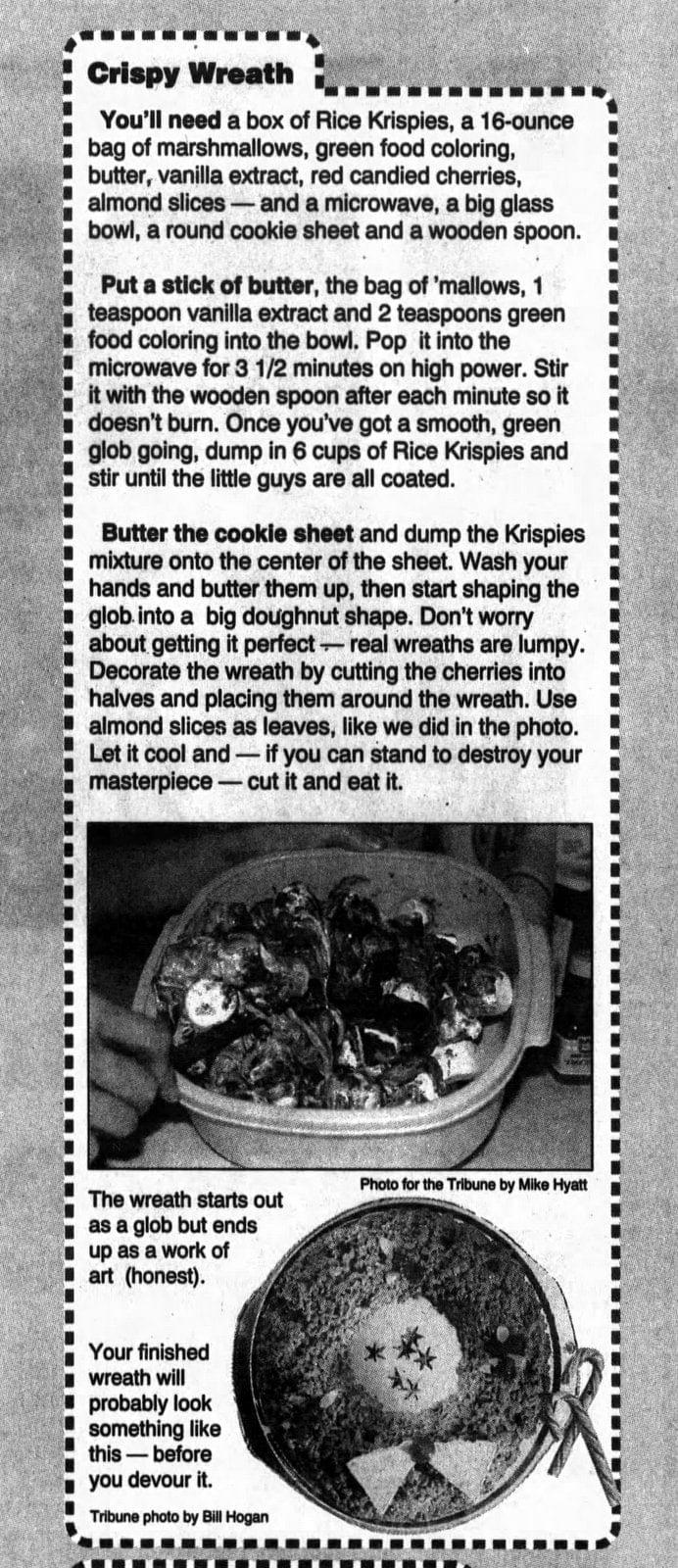 How to make a crispy wreath for Christmas (1992)
