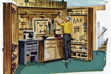 How to make a fold-up home workshop (1961)