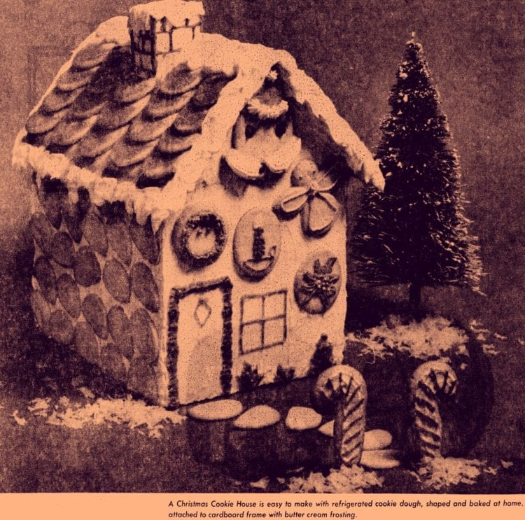 How to make a holiday cookie house for Christmas - 1976