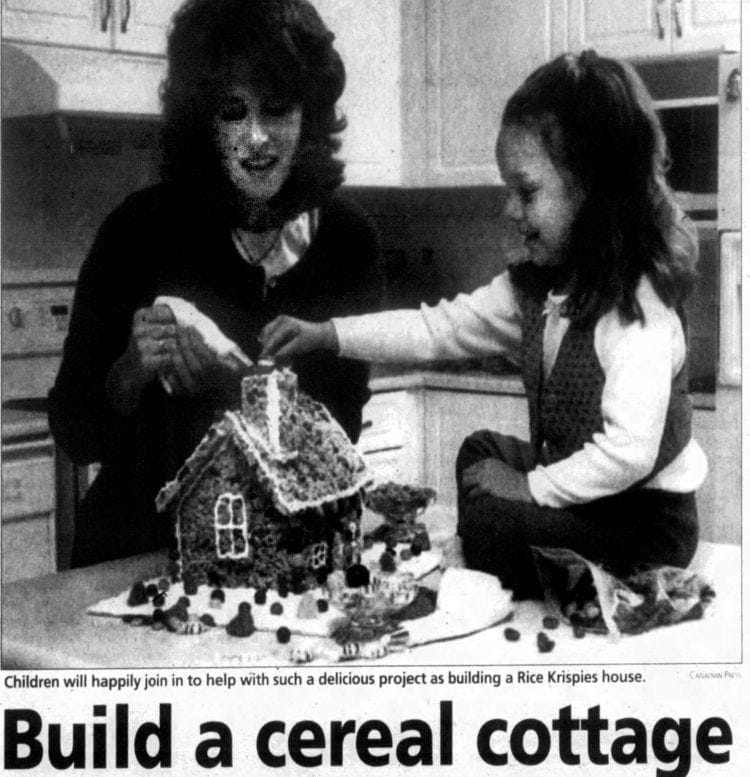 How to make a holiday house out of Rice Krispies and marshmallows