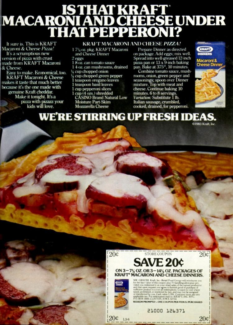 How to make a macaroni and cheese pizza (1983)