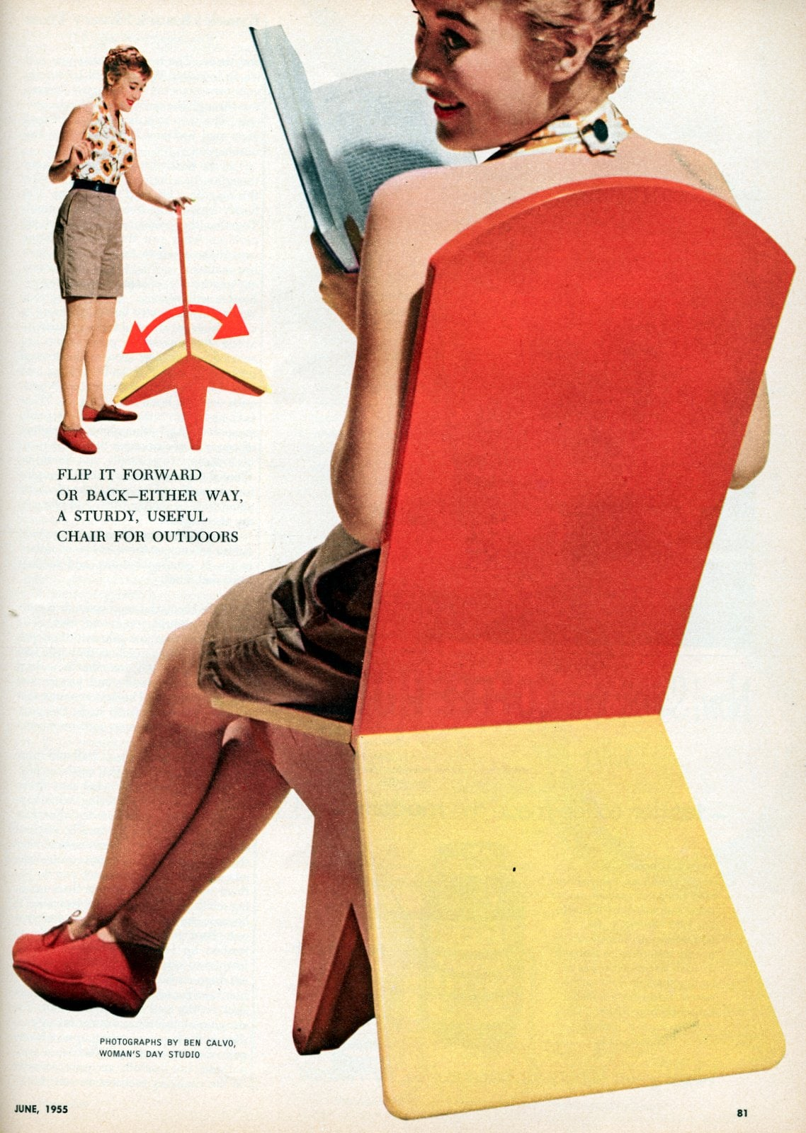 How to make a vintage-style flip-over chair (1955)