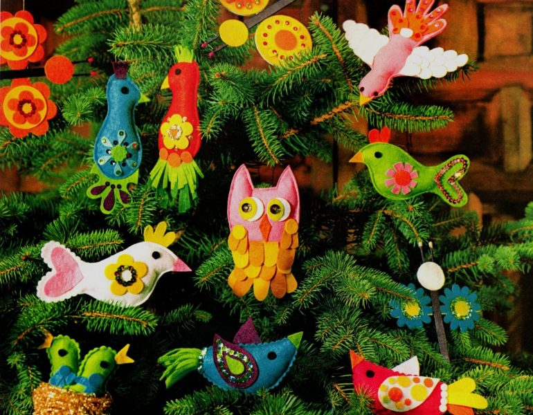 How to make adorable retro ornaments shaped like birds & butterflies