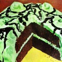Chocolate mint sundae cake (1949)