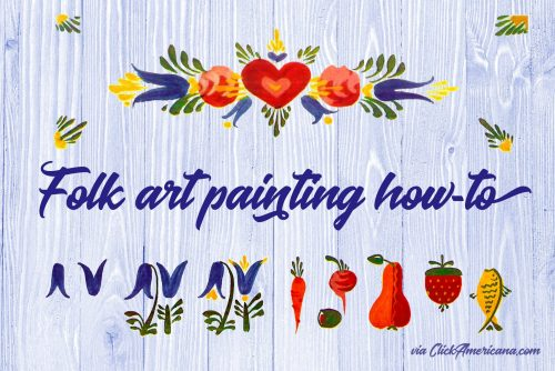 How to make beautiful folk-art painted designs with simple brushstrokes