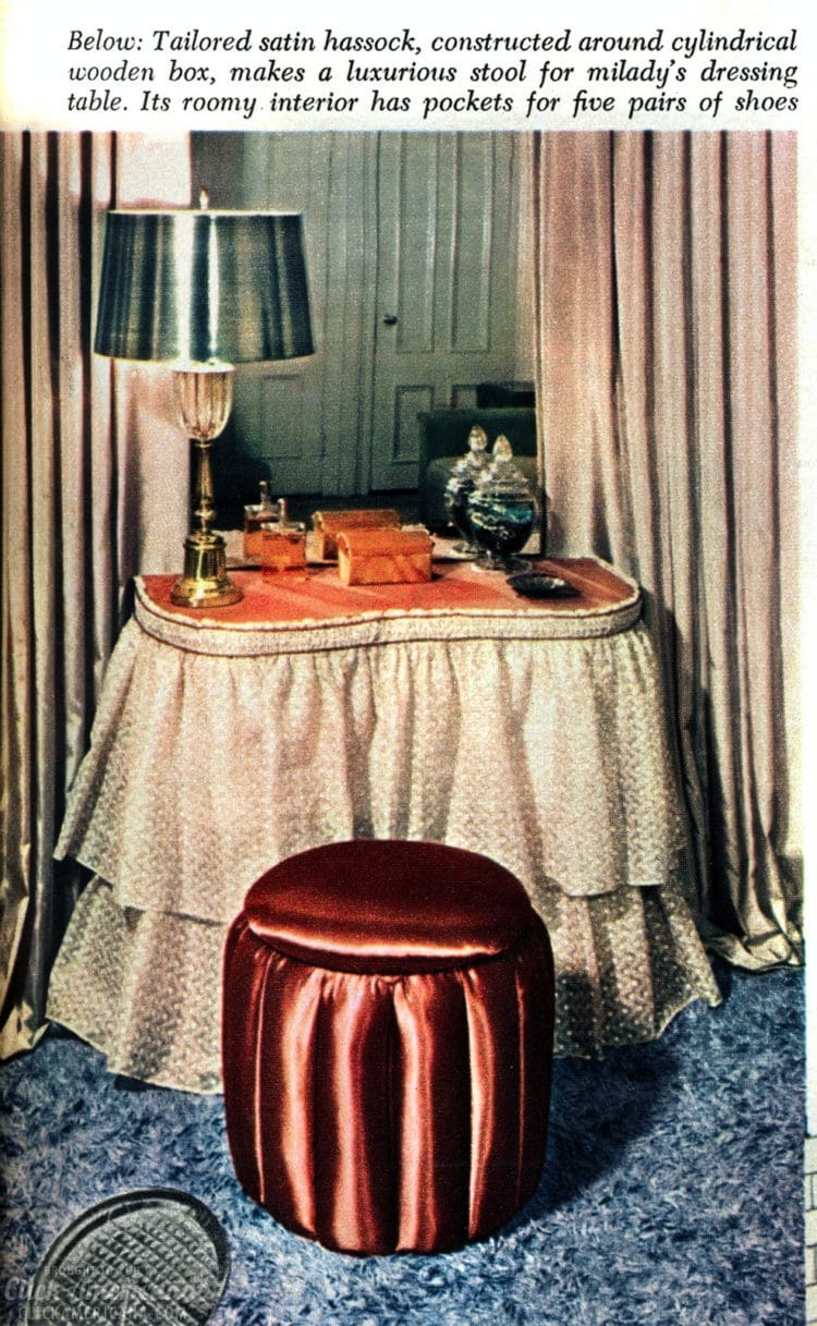 How to make double-duty hassocks - DIY projects from the 50s (3)