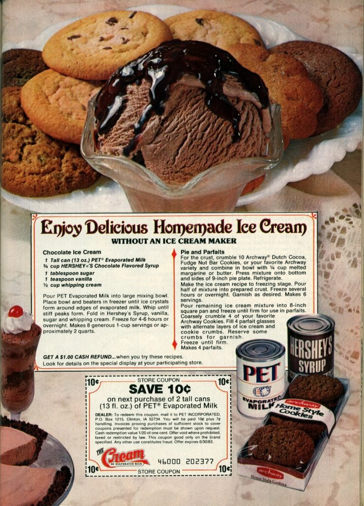 How to make easy homemade chocolate ice cream 1982