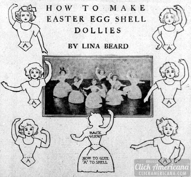 How to make egg shell dolls (1909)